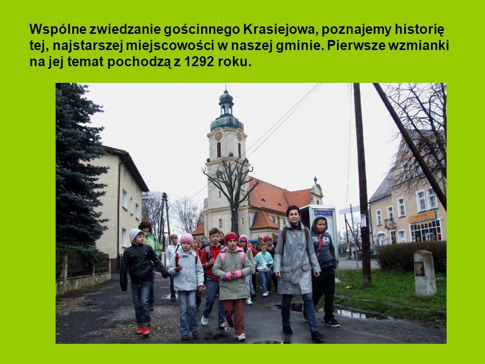 Na kościelnym murze znajdują się marmurowe tablice upamiętniające ludzi-mieszkańców tych terenów z Parafii Krasiejów, którzy zginęli w czasie II wojny
