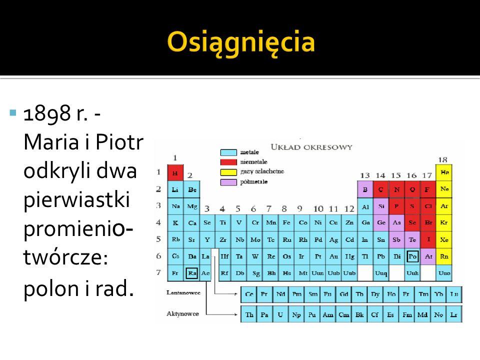 Radioaktywny pierwiastek chemiczny z grupy metali bloku p w układzie okresowym.