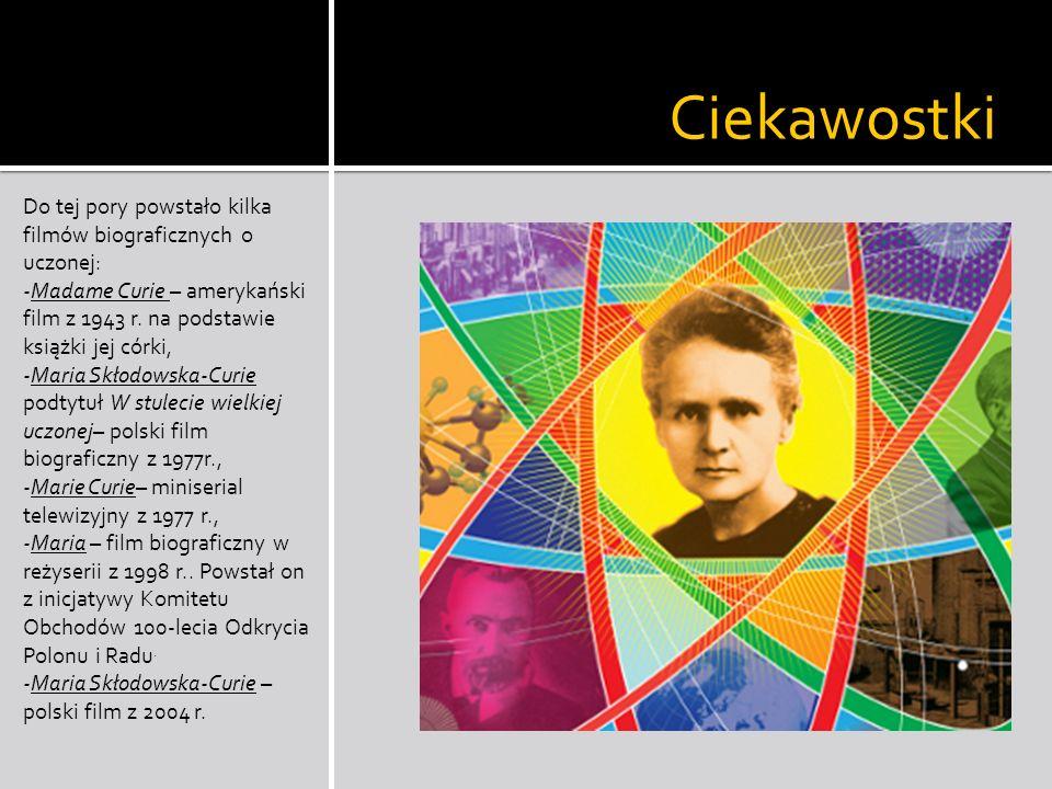 Anegdoty Maria Skłodowska - Curie była bardzo pracowitą i porządną kobietą.