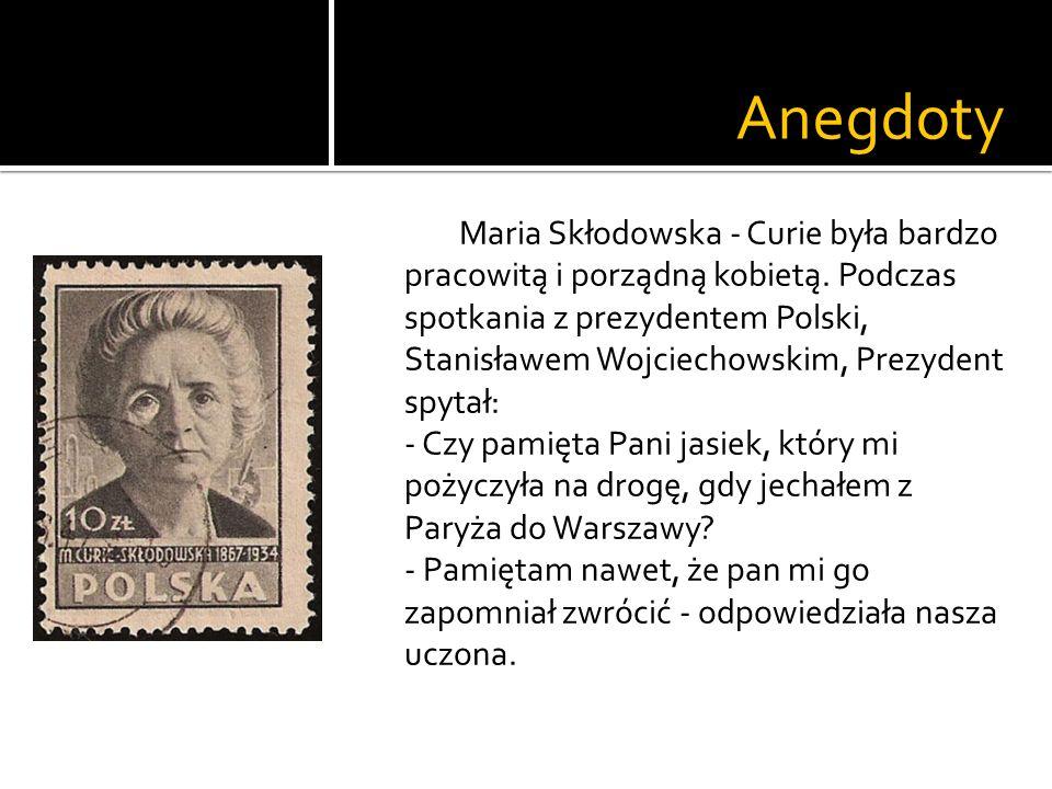 Anegdoty Skłodowska - Curie chociaż jest uznawana za obrończynię kobiet, to nie popierała wszystkich nowości.