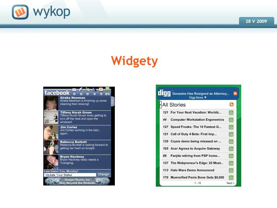 18.03.2008 28 V 2009 Widgety