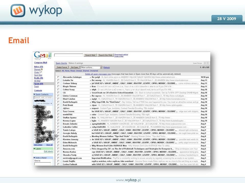 18.03.2008 28 V 2009 www.wykop.pl Efektywne kampanie mailowe.