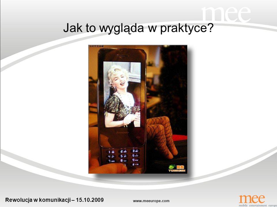 www.meeurope.com Rewolucja w komunikacji – 15.10.2009 Przykłady gier reklamowych