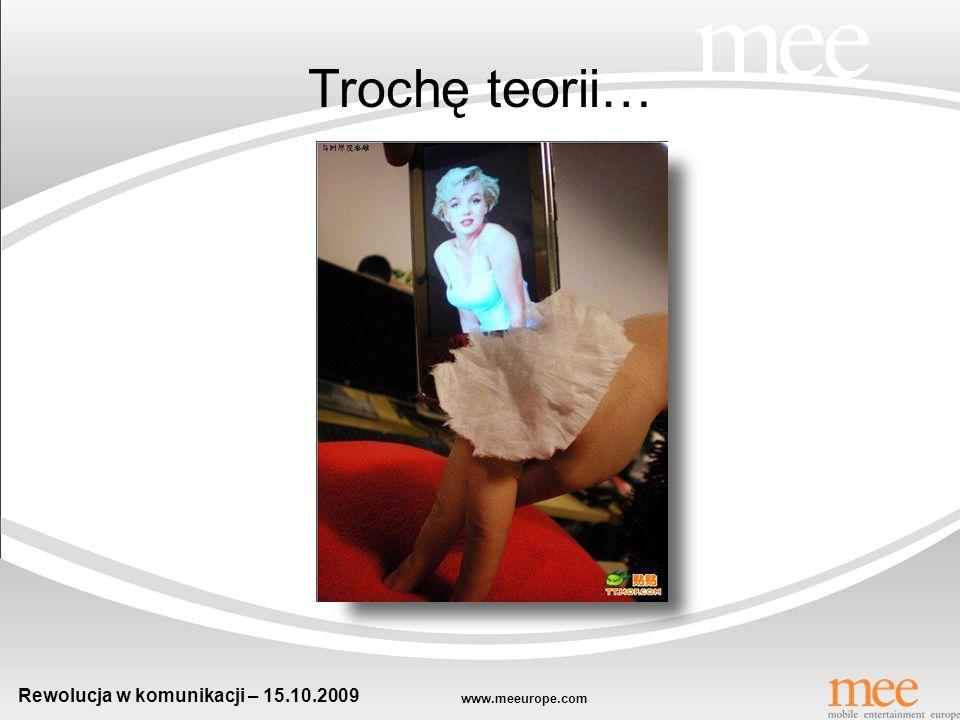 www.meeurope.com Rewolucja w komunikacji – 15.10.2009 Dzień dobry!