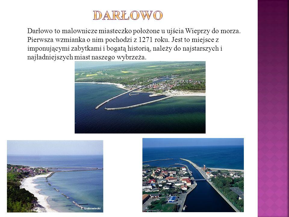 Darłowo to malownicze miasteczko położone u ujścia Wieprzy do morza. Pierwsza wzmianka o nim pochodzi z 1271 roku. Jest to miejsce z imponującymi zaby