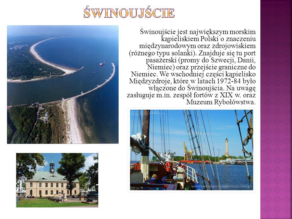 Świnoujście jest największym morskim kąpieliskiem Polski o znaczeniu międzynarodowym oraz zdrojowiskiem (różnego typu solanki). Znajduje się tu port p