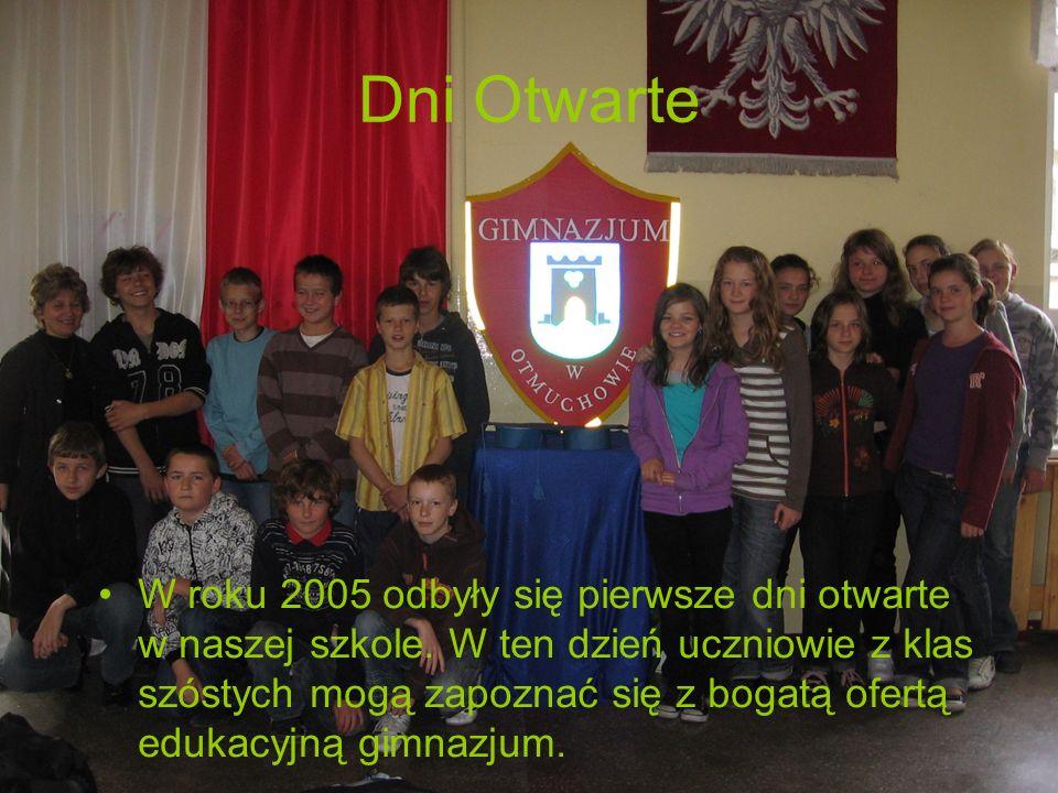 Dni Otwarte W roku 2005 odbyły się pierwsze dni otwarte w naszej szkole. W ten dzień uczniowie z klas szóstych mogą zapoznać się z bogatą ofertą eduka