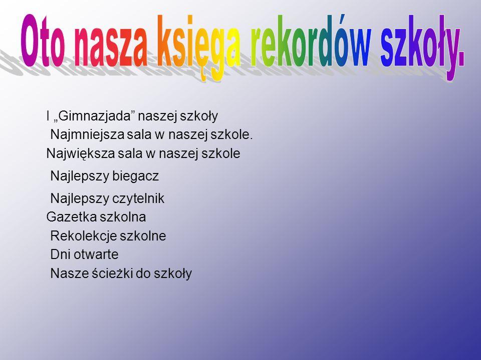 Najlepszy czytelnik W tym roku szkolnym najlepszymi jak dotąd czytelniczkami są: Żaklina Brzozowska kl.