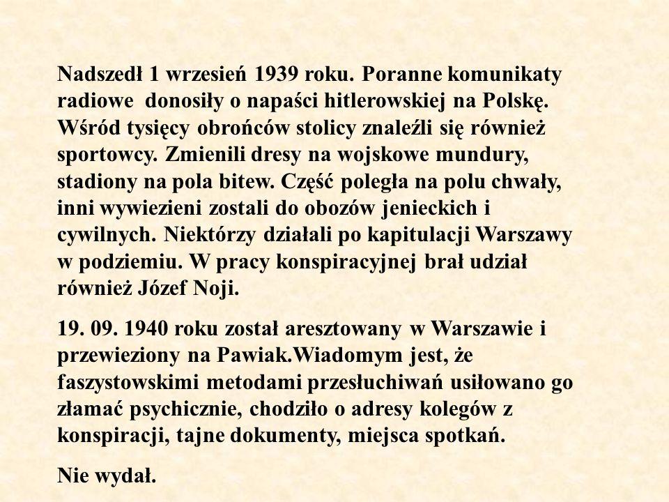 Nadszedł 1 wrzesień 1939 roku. Poranne komunikaty radiowe donosiły o napaści hitlerowskiej na Polskę. Wśród tysięcy obrońców stolicy znaleźli się równ