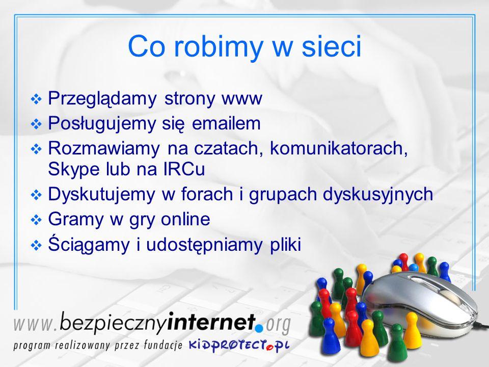 Dzieci i internet Dzieci powinny mieć możliwość korzystania z internetu Trzeba chronić dzieci przed zagrożeniami płynącymi z sieci Dzieci swoim zachowaniem często prowokują niebezpieczne sytuacje Dzieci często same stanowią zagrożenie w internecie