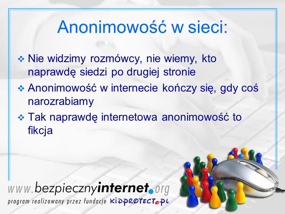 Przemoc w internecie Myślimy, że jesteśmy anonimowi i czujemy się bezkarni.