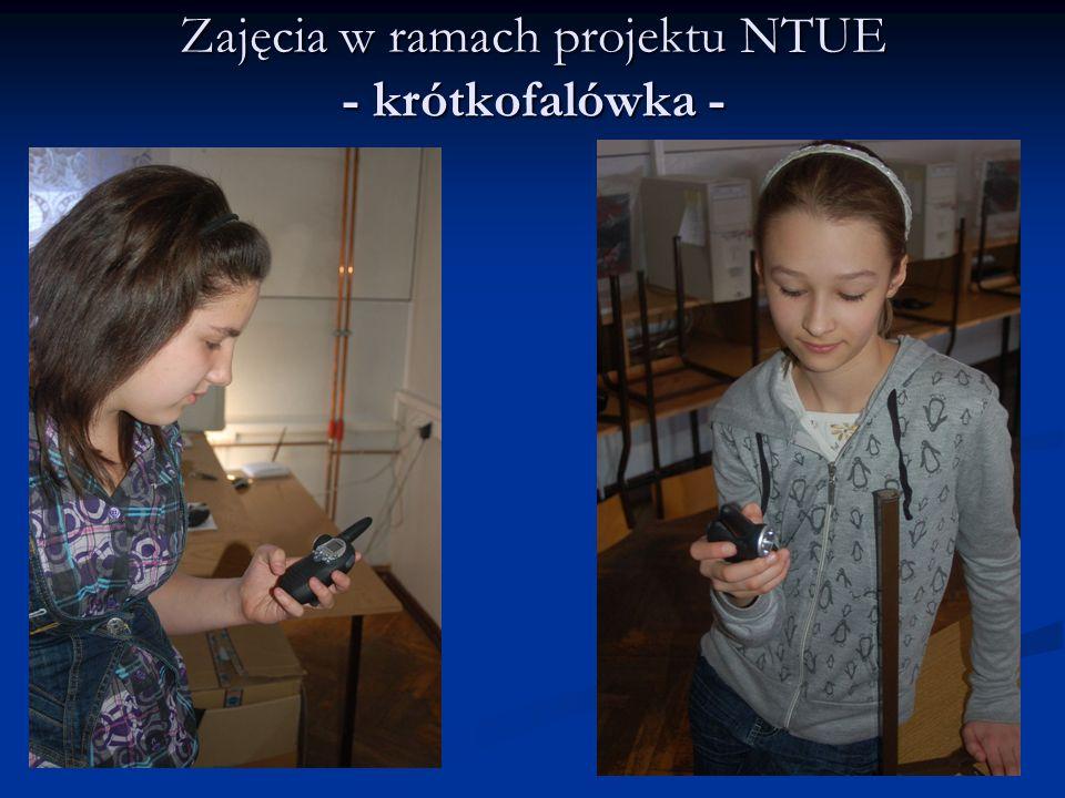 Zajęcia w ramach projektu NTUE - krótkofalówka -