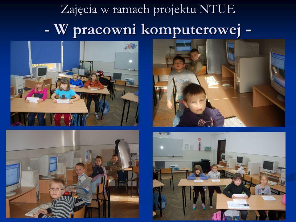 Zajęcia w ramach projektu NTUE - W pracowni komputerowej -