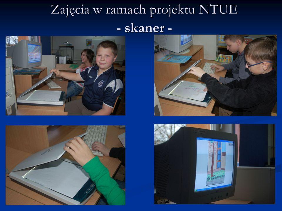 Zajęcia w ramach projektu NTUE - skaner -