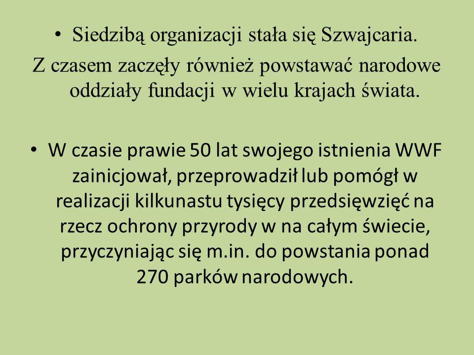 W Polsce, WWF działa od początku lat 90-tych.