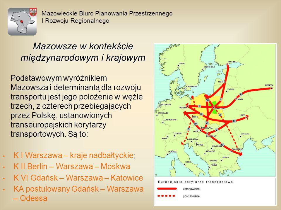 Mazowieckie Biuro Planowania Przestrzennego I Rozwoju Regionalnego Mazowsze w kontekście międzynarodowym i krajowym Podstawowym wyróżnikiem Mazowsza i