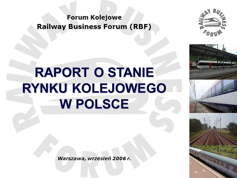 Tytuł …. Forum Kolejowe Railway Business Forum (RBF) RAPORT O STANIE RYNKU KOLEJOWEGO W POLSCE Warszawa, wrzesień 2006 r.