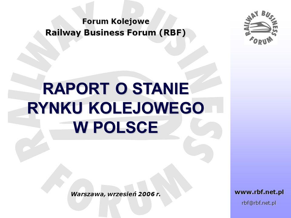 Tytuł …. RAPORT O STANIE RYNKU KOLEJOWEGO W POLSCE Forum Kolejowe Railway Business Forum (RBF) www.rbf.net.pl www.rbf.net.pl rbf@rbf.net.pl Warszawa,