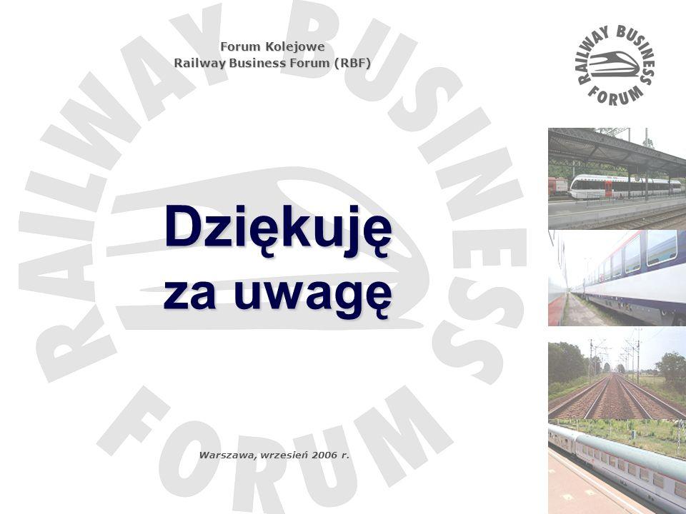 Tytuł …. Dziękuję za uwagę Forum Kolejowe Railway Business Forum (RBF) Warszawa, wrzesień 2006 r.