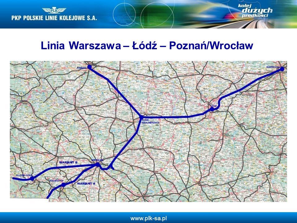 www.plk-sa.pl Linia Warszawa – Łódź – Poznań/Wrocław