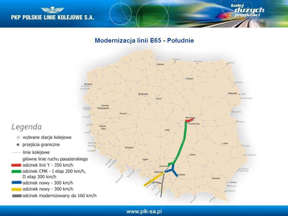 www.plk-sa.pl Modernizacja linii E65 - Południe