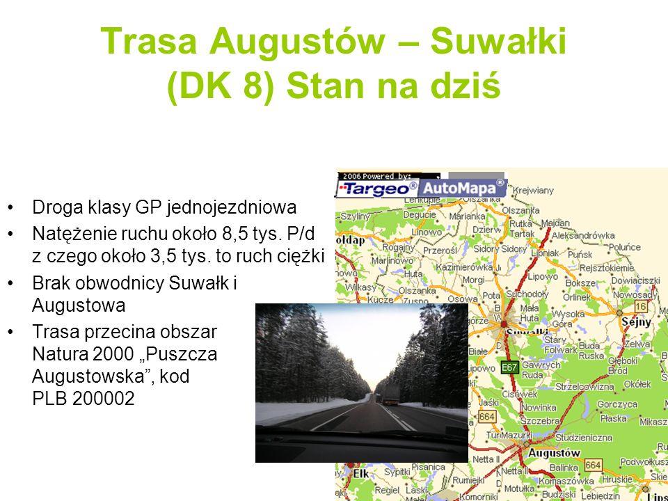 Obwodnica Augustowa czyli sztuczny problem Modernizację trasy Augustów – Suwałki rozpoczęto od rozpatrzenia możliwości budowy obwodnicy Augustowa - nowego odcinka drogi klasy technicznej S pomiędzy skrzyżowaniem z DK 61 (punkt A), a okolicami wsi Szczebra na DK nr 8 (punkt B) Pomiędzy tymi miejscami znajduje się obszar Doliny Rospudy będący częścią obszaru Natura 2000