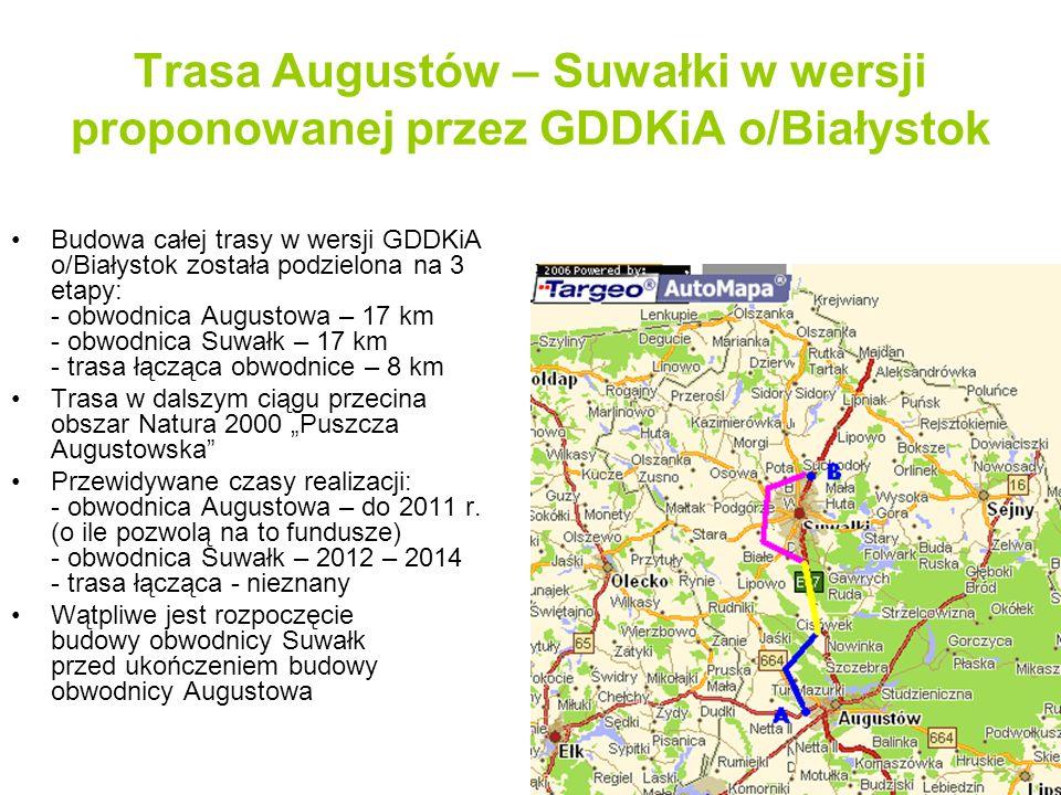 Trasa ekspresowa S-8 Augustów – Suwałki Opis projektu alternatywnego