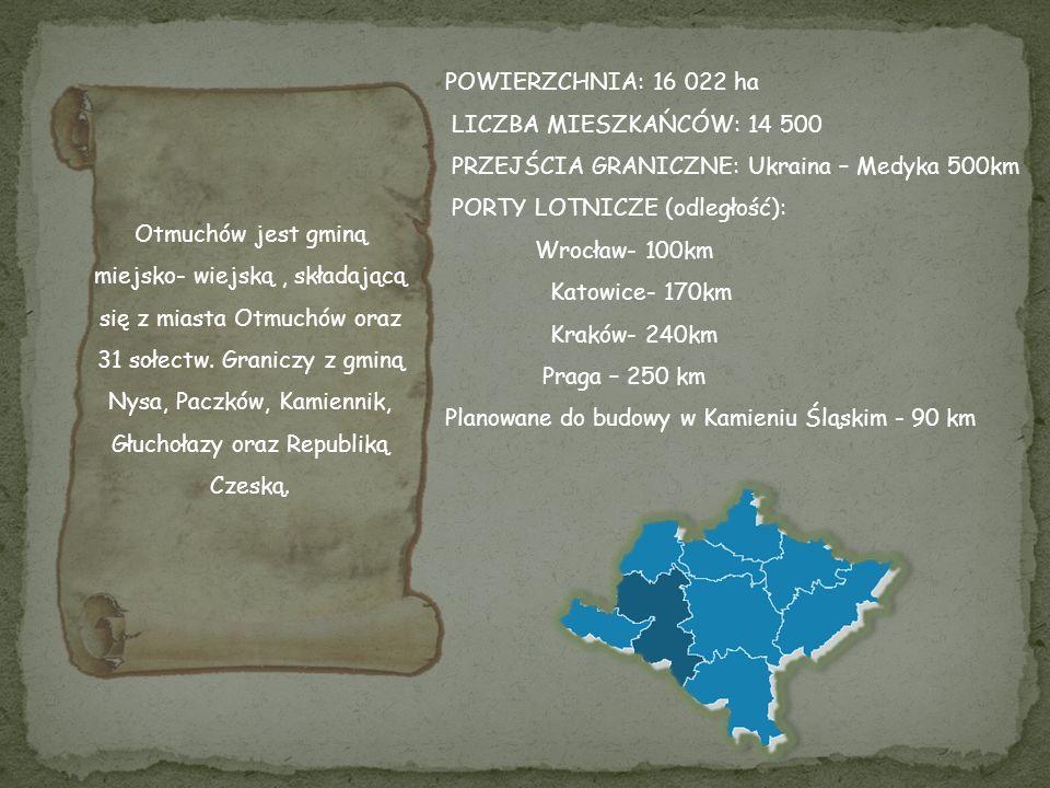 Otmuchów jest gminą miejsko- wiejską, składającą się z miasta Otmuchów oraz 31 sołectw.