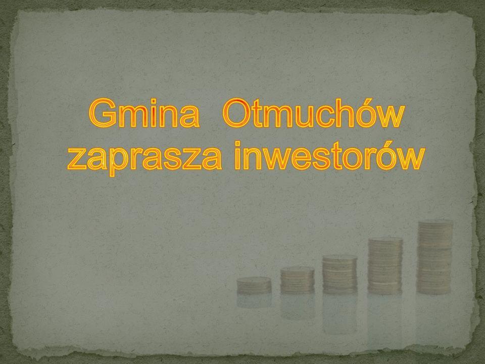 Gmina Otmuchów jest otwarta na przyjęcie każdego inwestora działającego w sferze przemysłu, produkcji rolniczej, drobnej wytwórczości, usług, rzemiosła i handlu.