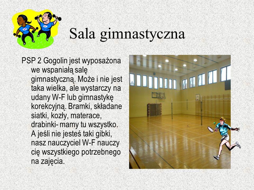 Sala gimnastyczna PSP 2 Gogolin jest wyposażona we wspaniałą salę gimnastyczną.