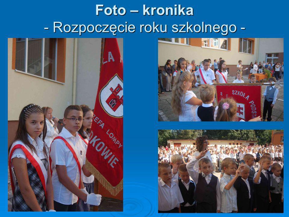 Foto – kronika - Rozpoczęcie roku szkolnego -