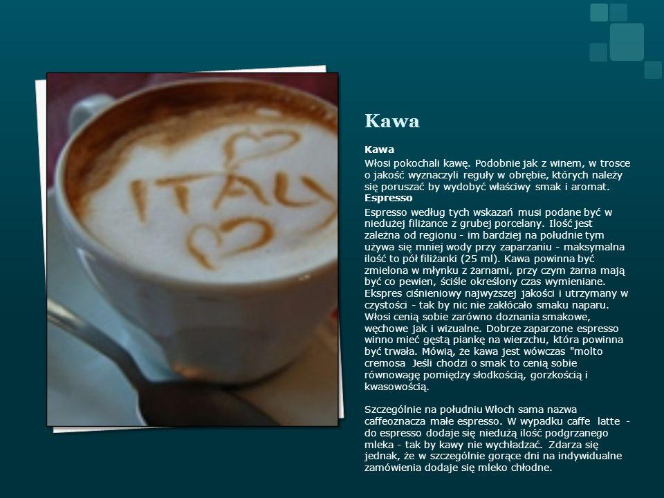 Kawa Włosi pokochali kawę. Podobnie jak z winem, w trosce o jakość wyznaczyli reguły w obrębie, których należy się poruszać by wydobyć właściwy smak i