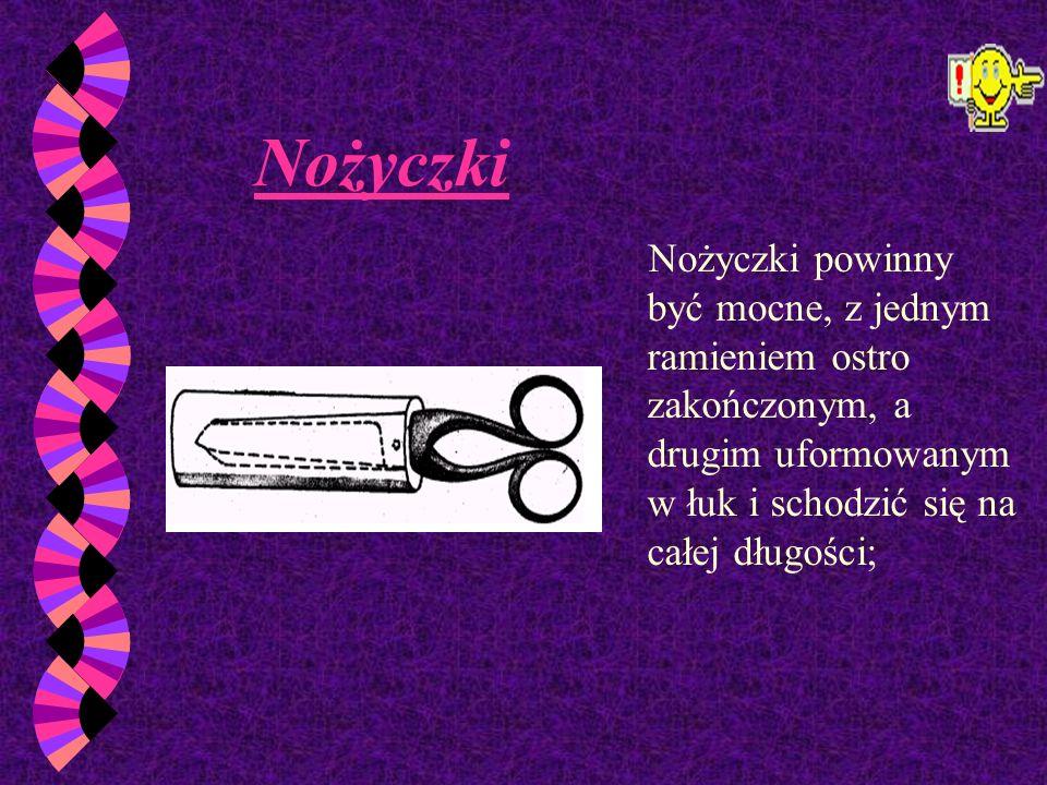 Narzędzia Podstawowe Nóż introligatorski Krótki, mocno osadzony w trzonku,by można go było wygodnie i bezpiecznie trzymać. Najczęściej stosowany do ci