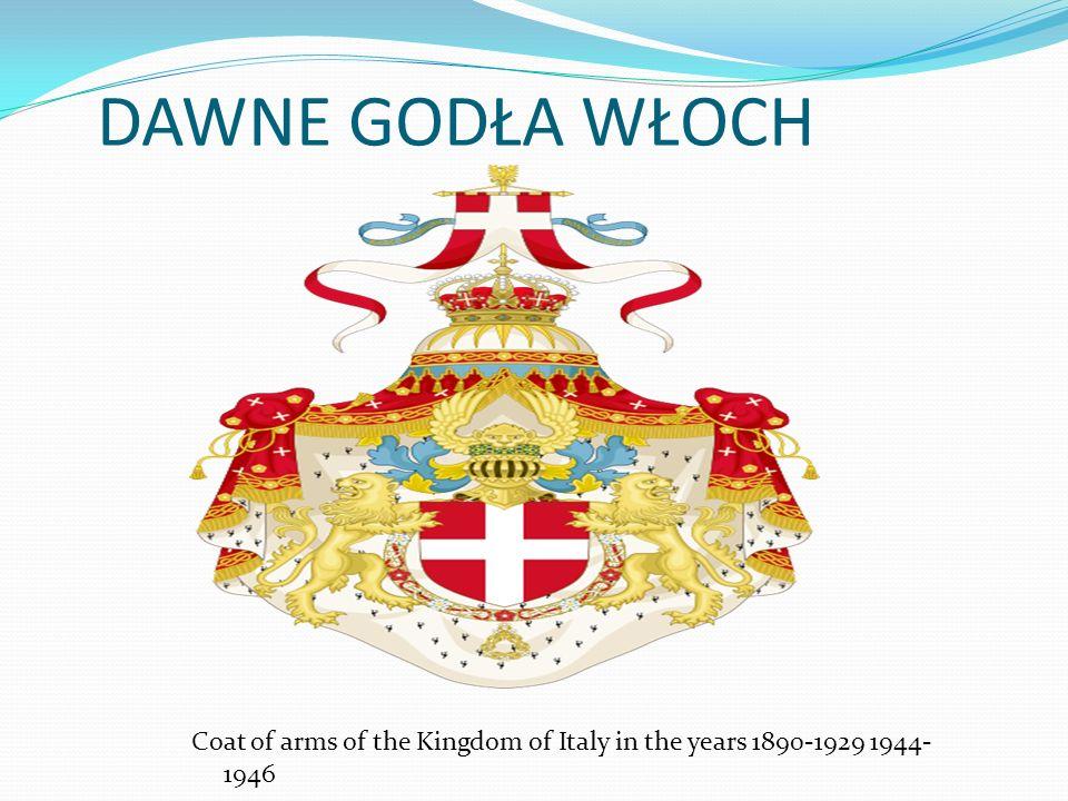 DAWNE GODŁA WŁOCH Herb Królestwa Włoch w latach 1929-1944