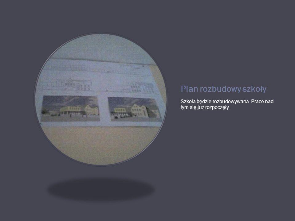 Plan rozbudowy szkoły Szkoła będzie rozbudowywana. Prace nad tym się już rozpoczęły.