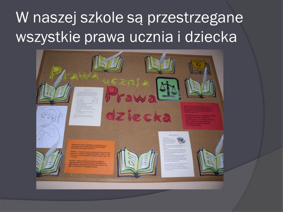 W naszej szkole są przestrzegane wszystkie prawa ucznia i dziecka