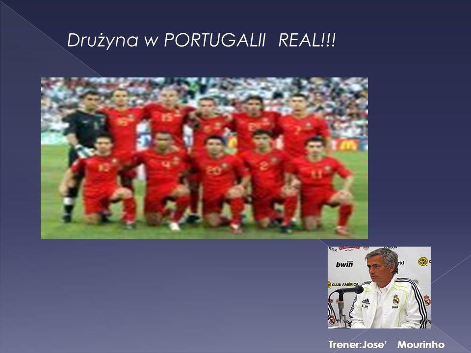 Drużyna w PORTUGALII REAL!!! Trener:Jose Mourinho