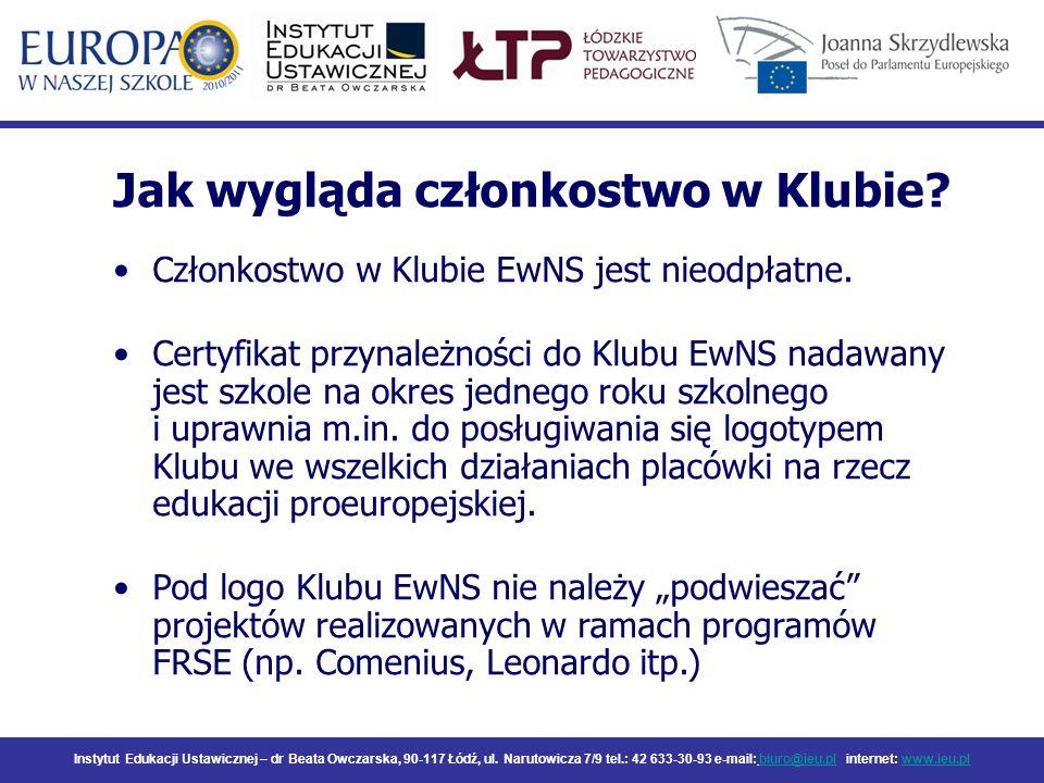 Instytut Edukacji Ustawicznej – dr Beata Owczarska, 90-117 Łódź, ul. Narutowicza 7/9 tel.: 42 633-30-93 e-mail: biuro@ieu.pl internet: www.ieu.plbiuro