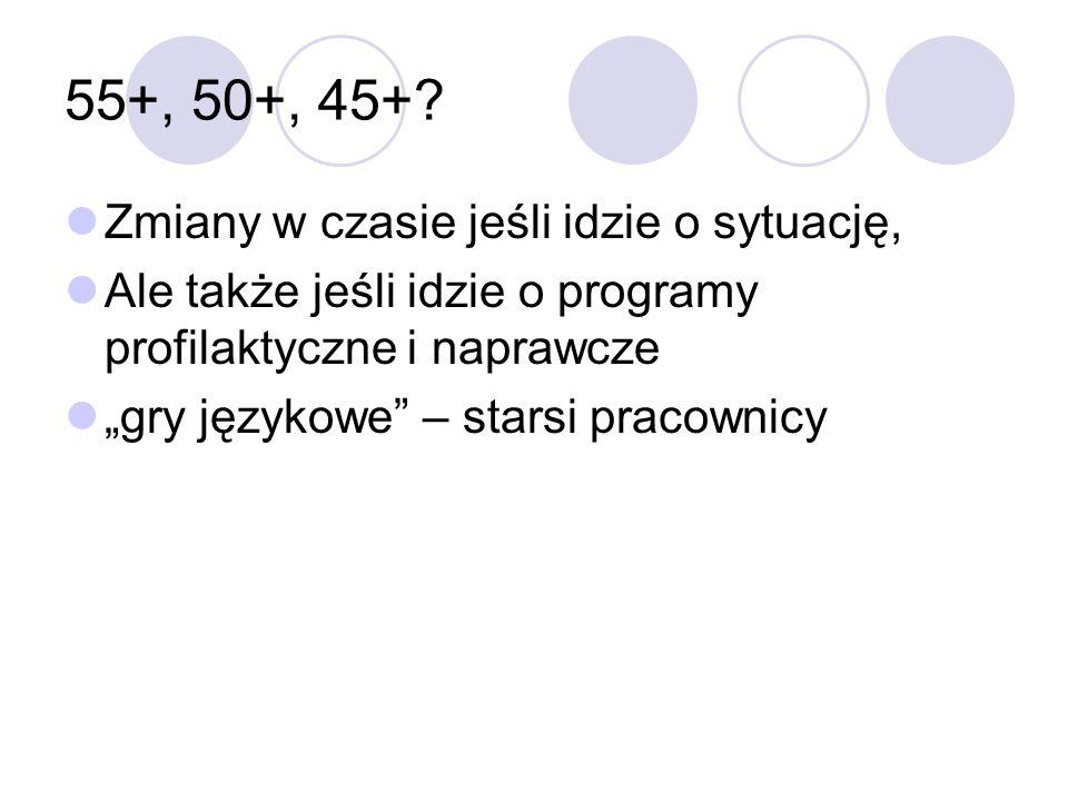 55+, 50+, 45+.