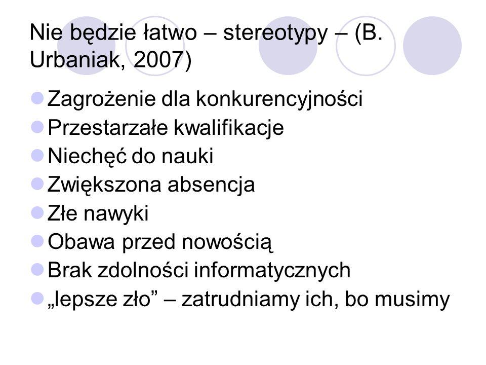 Nie będzie łatwo – stereotypy – (B.