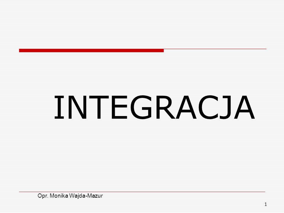 1 INTEGRACJA Opr. Monika Wajda-Mazur