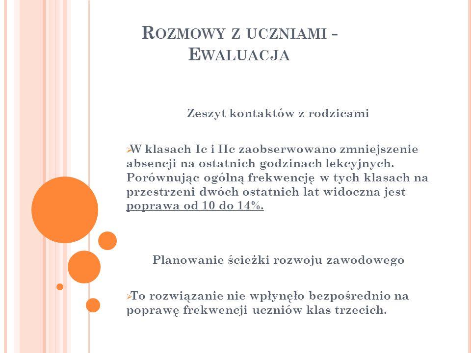 W GLĄD DO DZIENNIKÓW F REKWENCJA OGÓLNA I SEMESTR 2007/2008