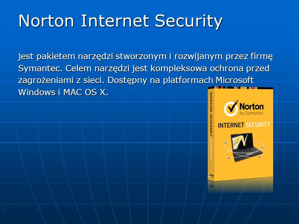 Norton Internet Security jest pakietem narzędzi stworzonym i rozwijanym przez firmę Symantec. Celem narzędzi jest kompleksowa ochrona przed zagrożenia