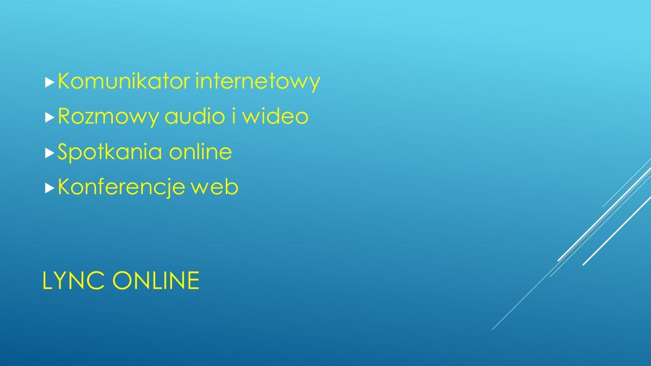 LYNC ONLINE Komunikator internetowy Rozmowy audio i wideo Spotkania online Konferencje web