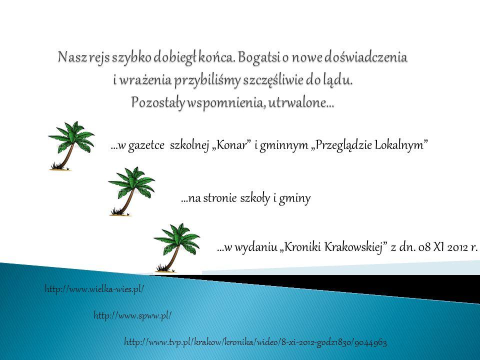 …w wydaniu Kroniki Krakowskiej z dn.08 XI 2012 r.