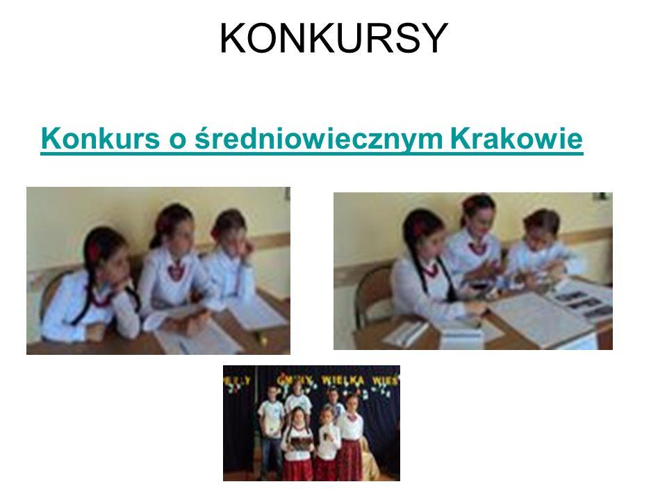 KONKURSY Konkurs o średniowiecznym Krakowie