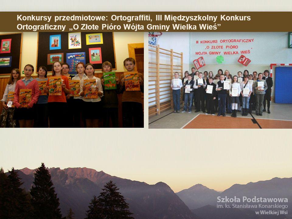 Konkursy przedmiotowe: Ortograffiti, III Międzyszkolny Konkurs Ortograficzny O Złote Pióro Wójta Gminy Wielka Wieś