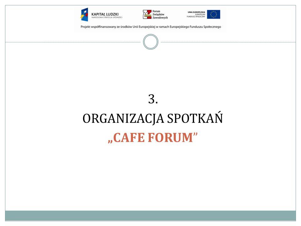 3. ORGANIZACJA SPOTKAŃ CAFE FORUM