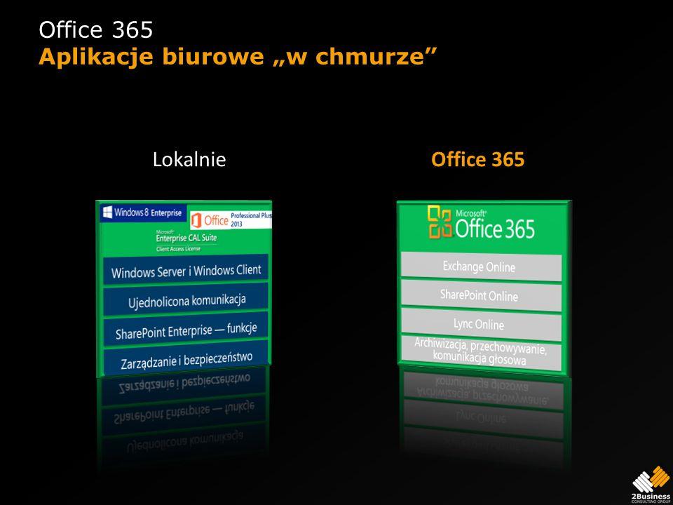 Office 365 Aplikacje biurowe w chmurze Office 365Lokalnie