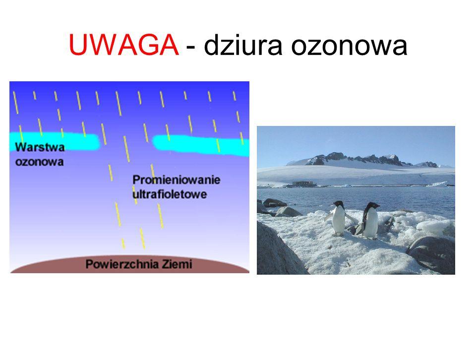 UWAGA - efekt cieplarniany The greenhouse effect
